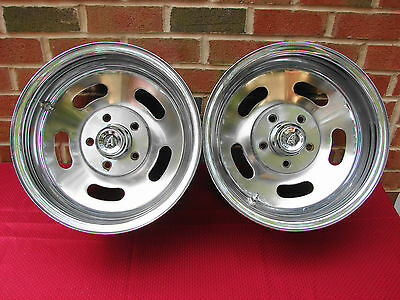 Vintage Ap Reverse Chrome Slot Wheels 14X8 5 Bolt 4.5 Bc Ford Mopar Amc