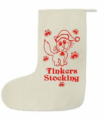 Cat stocking, personalised Christmas Cat stocking, Cat treats, Christmas,
