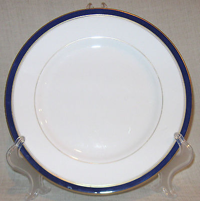Royal Worcester Howard Bread Plate with Cobalt Blue and Gold Trim