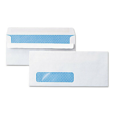 Universal One Self-Seal Business Envelope Window Security Tint #10 White 500/box