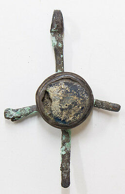 Byzantine Bronze Cross 9-11 century, with stone in the center