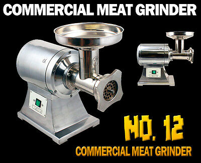 New True 1HP Commercial Stainless Steel Automatic Electric Meat Grinder #12