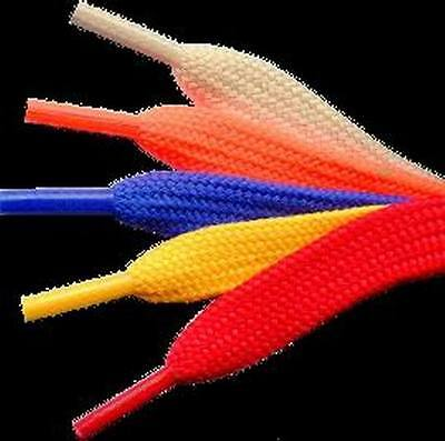 New 36 Inch Wide Shoelaces Colors Shoe Lace Skateboard Volleyball Cheerleader Sm