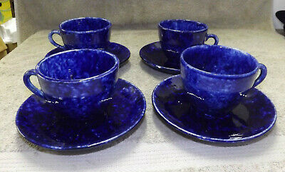 Stangl Caughley Blue 4 Cup & Saucer Sets Tiffany & Co