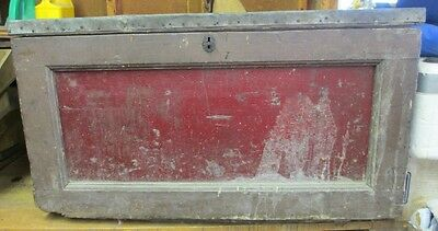 Antique, Carpenters Toolbox,Chest,Wooden Strongbox,Trunk Primitive Coffee Table