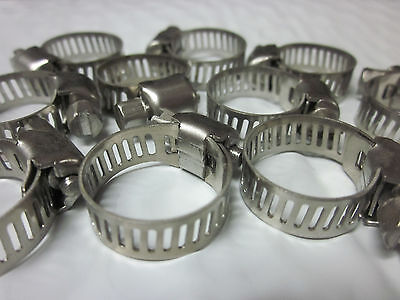 "10pc 3/4"" CLAMP STAINLESS STEEL HOSE CLAMPS 1/2"" - 3/4"" GOLIATH INDUSTRIAL TOOL"