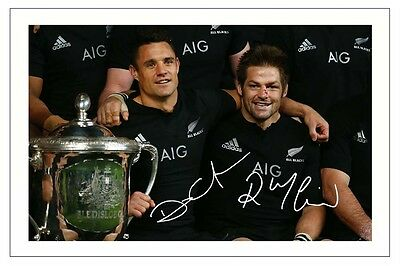 DAN CARTER & RICHIE McCAW  NEW ZEALAND ALL BLACKS RUGBY SIGNED PHOTO PRINT