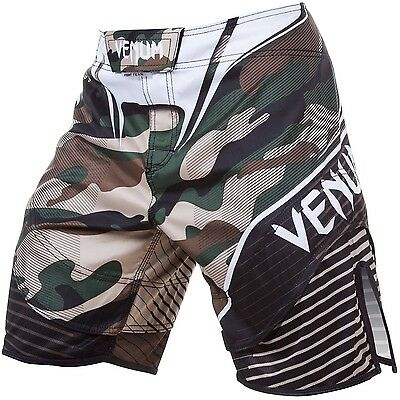 Venum Camo Hero Fight Shorts - Green/Brown - MMA & Grappling Gym Wear