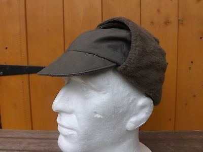 GENUINE GERMAN ARMY COLD WEATHER HATS IN OLIVE GREEN GRADE 1 size's 58cm to 53cm