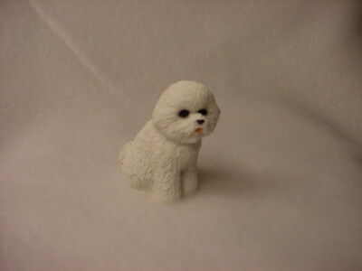 BICHON FRISE puppy TiNY DOG Resin Figurine MINIATURE Collectible Mini Statue NEW