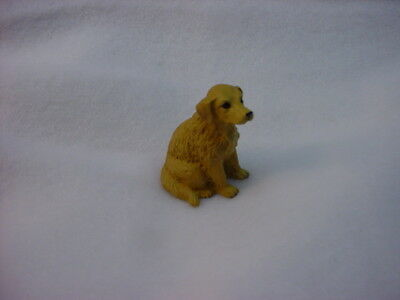 GOLDEN RETRIEVER puppy TiNY DOG Figurine HAND PAINTED MINIATURE Mini Statue NEW