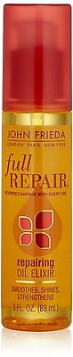 JOHN FRIEDA Full Repair Repairing Oil Elixir 3oz Hair Serum NEW
