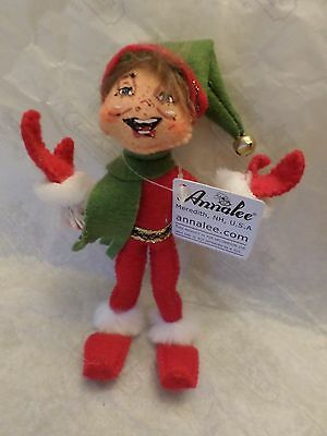 Annalee Christmas Red Delights Elf  NWT 2012