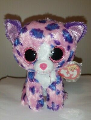 """Ty Beanie Boo's ~ REAGAN the 6"""" Leopard ~ Claires Exclusive ~ NEW with MINT TAGS"""