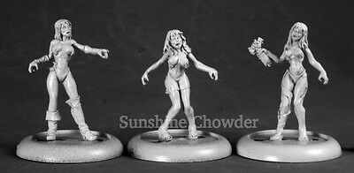 Zombie Strippers (3) 50213 - Chronoscope - Reaper MiniaturesD&D Naked Female