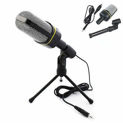Professional Condenser 3.5mm Microphone Mic Studio Sound Recording + Shock Mount