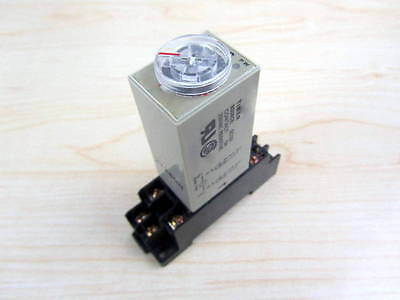 US AC 110V H3Y-2 Delay Timer Time Relay 0-3 Minute 110VAC & Base