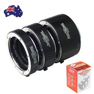 Macro AF Auto Focus Automatic Extension Tube Metal Bayonet For CANON EF S Lens