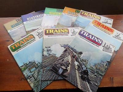 Lot of 9 magazines TRAINS ILLUSTRATED British Railways Then + Now the regions