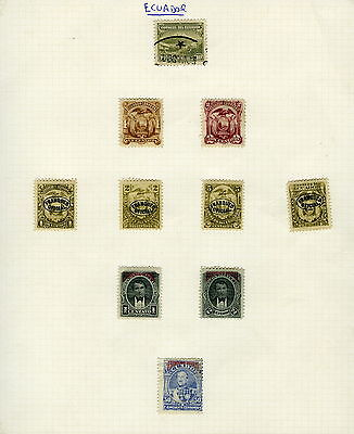 Selection of Stamps - ECUADOR - Mounted Used & Unused + OVERPRINTS