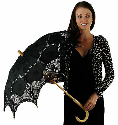 Greatlookz Romantic Battenburg Lace Hook Parasol with All Over Lace