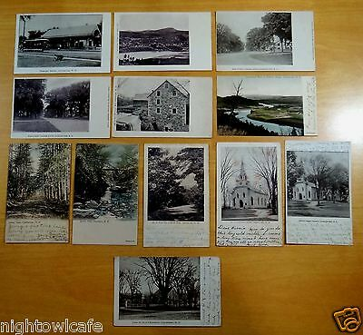 Lot of 12 Antique Postcards ALL CHARLESTOWN, NH New Hampshire ALL UNDIVIDED BACK