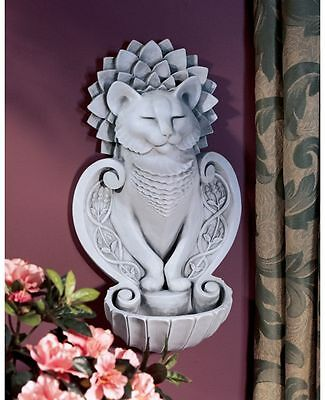 Feline Dignity Meditation Wall Font Sculpture Cat