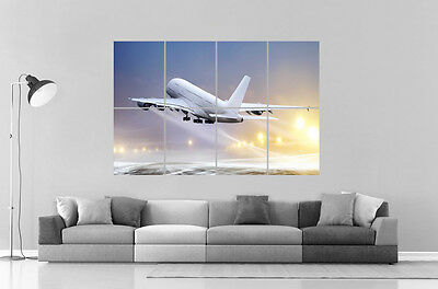 Airbus a380 lufthansa Wall Poster Grand format A0 Large Print