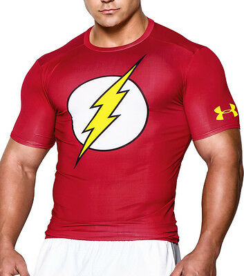 Under Armour Flash Compression Mens Top - Red