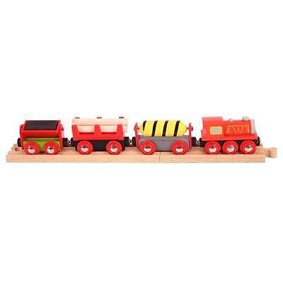 TRAIN ENGINE & CARRIAGES  Wooden Track ( Brio Thomas )  New Boxed