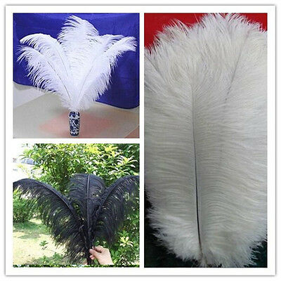 Beautiful white / black ostrich feathers 12-24 inch/30-60 cm wedding decorations