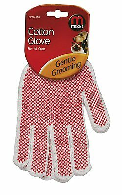 2 x Mikki Grooming Cotton Glove for All Coats 276-118