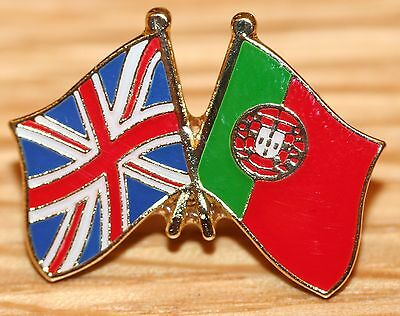 UK & PORTUGAL FRIENDSHIP Flag Metal Lapel Pin Badge Great Britain