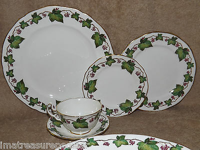 Adderley Bone China England Ivy 57 pc Dinnerware Set Service for 12