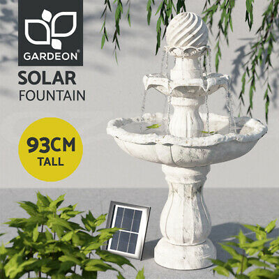 Solar Power Fountain Feature Four-Tier Bird Bath Outdoor Fountains Water Pump