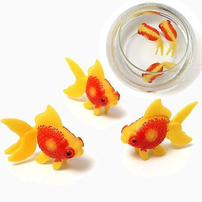 3 Pcs Poisson Rouge Artificiel en Plastique Ornement Décor Aquarium Fluorescent