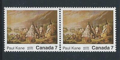 Canada #553i Pair Stroke on Teepee & Normal Variety MNH **Free Shipping**