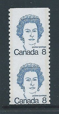 Canada #604iv #604vi Coil With Trace of Scoreline Variety MNH **Free Shipping**