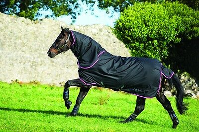 Horseware Hero 6 Plus,  Mediumweight 200g Turnout Horse Rug with Detachable Neck