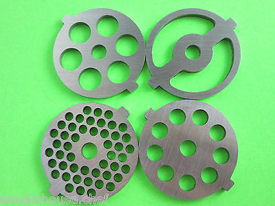 FOUR sizes grinding plates for Kitchenaid FGA Mixer Food Meat grinder STAINLESS