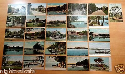 Lot of 26 Antique Postcards ALL CANOBIE LAKE PARK, NH New Hampshire 6 UDB