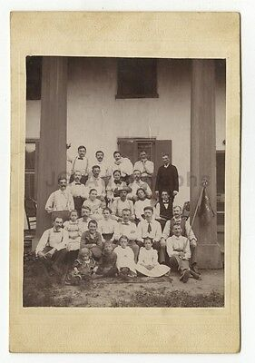 19th Century Community - Vintage Cabinet Card of Unidentified Group - Late 1800s