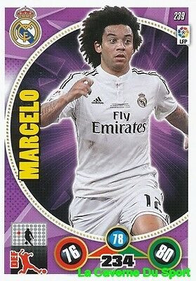 239 Marcelo Brazil Real Madrid Card Adrenalyn 2015 Panini