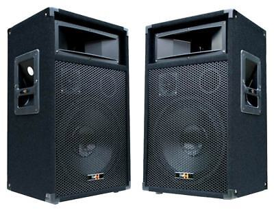 "2x 600 Watt DJ PA LAUTSPRECHER Disco PARTY Boxen 30cm / 12"" Subwoofer Bass NEU"