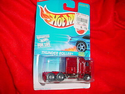 HOT WHEELS #483 Thunder Roller Semi Tractor Cab New In Package Free Usa Ship