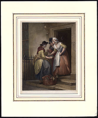 Rare Antique Proof Print-MACKREL-FISH-CRIES OF LONDON-Schiavonetti-Wheatley-1793