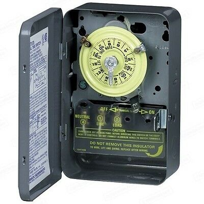 Intermatic T103 Electromechanical Timer 125v 40A 24 Hour Indoor Time Switch