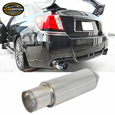 Fits A4 A6 Stainless Steel Exhaust Muffler N1 4 Inch Flat Color Tip WithSilencer