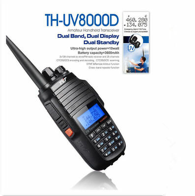TYT TH-UV8000D 10W CON 3600mAh Batería Dual Band UHF/VHF FM Radio Walkie Talkie