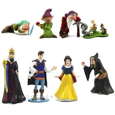 Hot 8pcs Disney Princess Snow White And The Seven Dwarfs Playset Xmas Gift M202